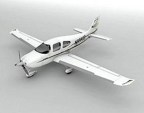 3D model Cirrus SR-22 Aircraft LOW