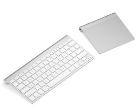 Keyboard with touchpad 3D model