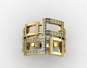 Stl squares ring 3d