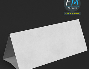 3D model Table tent template 7