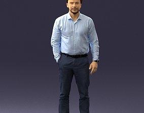 Man in blue shirt 0492 3D print ready