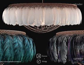 Feathers Modern Chandelier Vray - Corona renderer 3D model