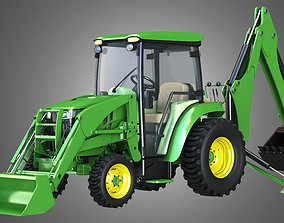John Deere Tractor 3D model farm