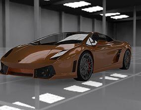 3D asset Lamborghini gallardo lp-550