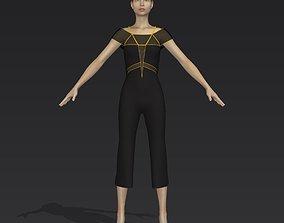 3D Black overalls