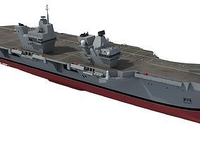 HMS Queen Elizabeth Aircraft Carrier 3D
