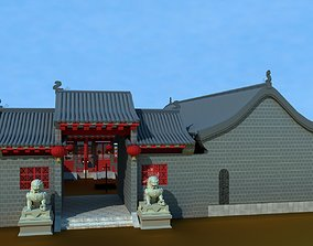 3D Chinese ancient courtyard house