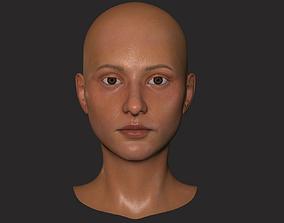 Woman Head 3D asset realtime bpr