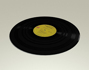 Vinyl Record Album rolling 3D