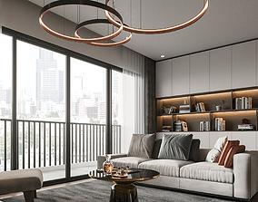 dining Apartment livingroom modern 3D model