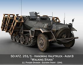 3D model SD KFZ 251 1 - Ausf B - Walking Stuka - 11PD