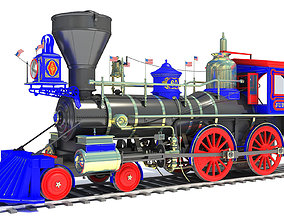 3D model Jupiter Locomotive