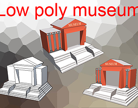 realtime Museum Low-poly 3D model game 3D model