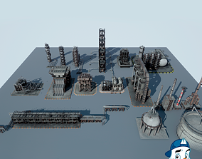 3D model Oil Refinery Pack