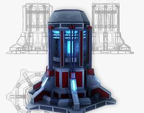 3D asset Force field generator 08 sci-fi
