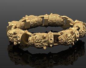 3D print model Bracelet Dogs