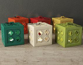 3D model Ceramic Square Tealight Lanterns