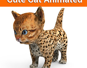 3d Cat Animated model animated