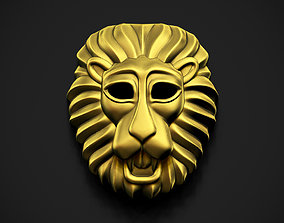 jewelry 3D printable model Lion Face