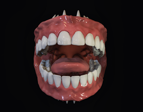 3D asset Teeth - Mouth for character