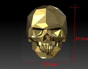 skeleton silver 3D printable model skull ring