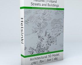 street Helsinki Streets and Buildings 3D