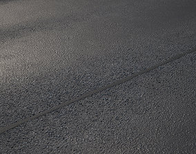 Large area seamless new road texture shader 3D model