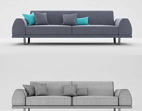 Portland 3 seater sofa 3D model