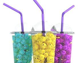 3D model Kawaii Shake Cocktail Lemonade