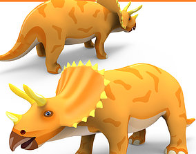 VR / AR ready Cartoon Triceratops 3D Models