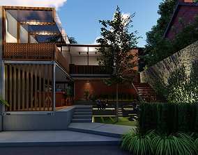 3D CONTAINER COFFEE SHOP ARCHITECTURAL DESIGN