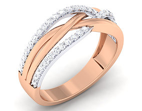 Couple Band Ring 3dm mgx render detail fashion jewellery