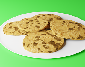 3D Cookies on plate