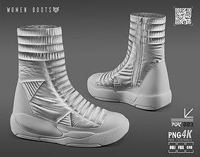 3D model women boots cr 02w