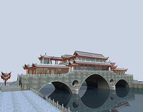 China ancient birdge -- AnShun bridge day scene 3D Model