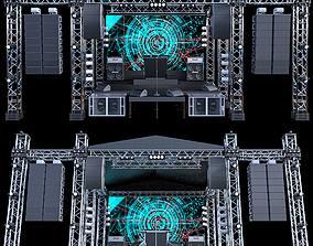 Mini Concert Stage 3D model