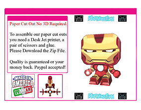 dildo Iron Man Paper Cut Out Not 3D Version