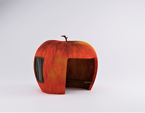 3D asset Red Apple House