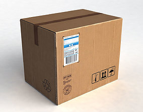 3D model Cardboard Package Box