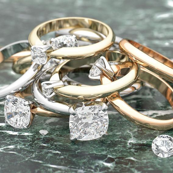 Set from Twelve Solitaire Ring