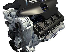 3D model Black Cover Dodge Ram V8 Engine