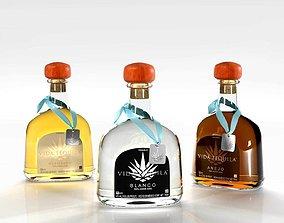 3D Vida Tequila Bottles