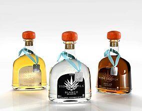 drinking 3D Vida Tequila Bottles