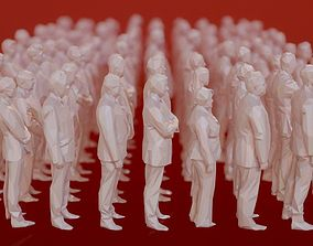 3D model 99 Low Poly Human People Figurines