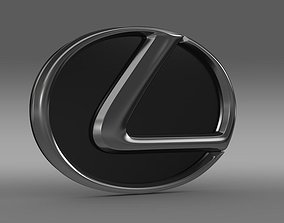 Lexus motors logo 3D