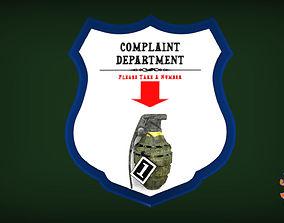 Complaint Department Please Take A Number 3D print model 3