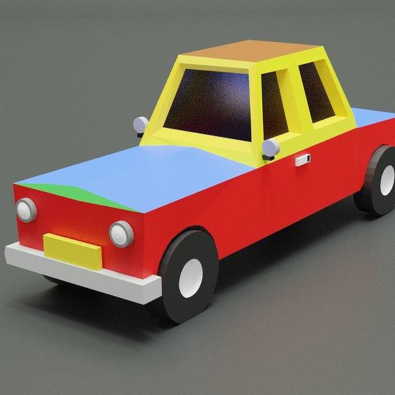Simple lowpoly car