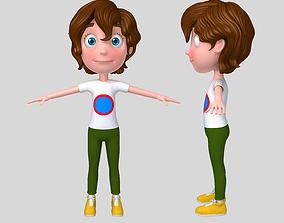 3D model Boy cartoon 02