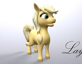 3D model cartoon pony layla