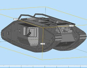 Mark 1 Male Tank Highly Detailed 3D print model
